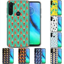 TPU Phone Case for Motorola G Stylus,G7 Play,Power,Plus,Cute Background 1 Print