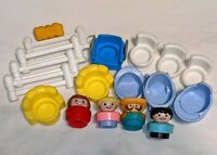 Lot:18 Vintage Fisher Price Little People chunky figures baby furniture farm D