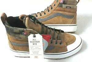 Vans Men's Sk8-Hi Mte 2.0 Dx Glazed Ginger Brown Marshmallow Boots Size 9.5 NWT
