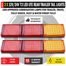 NEW 2 x JUMBO 12V/24V LED Trailer Tail Lights Indicator Lamp For Caravan Truck