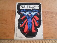 Dracula 2 1975 Marvel sticker card Scarce Topps