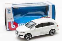 Audi Q7 in White, Bburago 18-30229, scale 1:43, toy car model gift boy