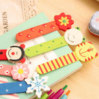 10Pcs Creative Cartoon lovely Animal Shaped Wooden Bookmark Student Stationery