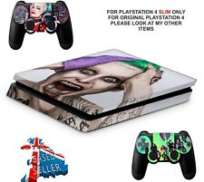 SUICIDE SQUAD PS4 SLIM **TEXTURED VINYL ! **PROTECTIVE SKINS DECALS WRAP STICKER