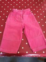 Mini Boden Girls Pink 3/4 Length Trousers Age 5-6