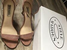 Steve Madden Pink Real Suede Ankle Strap Sandals, UK 6