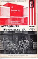 1968 (Feb.10) Soccer program, Division I, Sunderland vs. Tottenham II ~ Wembley