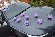 wedding car decorations butterflies Automobile di cerimonia nuziale purple
