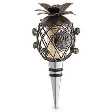 PINEAPPLE Metal Cork Cage Bottle Stopper with Cork--by Epic Wine Products