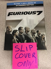 Fast and Furious 7 OUTER Slip Cover for Blu-ray Case! No MOVIE!