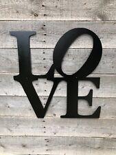 LOVE cnc metal cut sign art or wall decor with powder coat finish