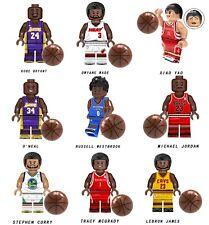 9set NBA Limit Basketball Players MVP Wade Kobe James Curry Building Blocks TOYS