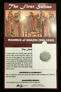 The First Sultan - Certified Silver Coin of Mahmud of Ghazni (998-1030)