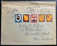 1947 Le Mans France cover To Avonside New Zealand
