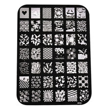 10PCS/LOT Metal Nail Art Stamping Kit Nail Art DIY Image Print Template Plate