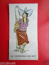 cromos figurine i 4 moschettieri 54 la fanciulla del west perugina buitoni 1936
