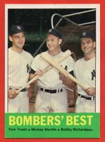 1963 Topps #173 Bombers Best EX-EXMINT+ Mickey Mantle Tom Tresh New York Yankees