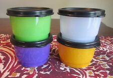 Tupperware NEW SNACK CUPS Lot 4 Halloween Black Purple Orange Green 4 oz 110 ML