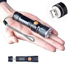 Starke LED Taschenlampe USB Lampe Polizei Swat Wiederaufladbare Cree 1200 Lumen
