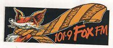 HAWTHORN THE HAWKS - 101.9 FOX FM STICKER UNPEELED 24 x 10cm