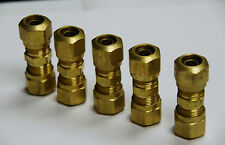 """Brass Fittings: DOT Air Brake Union Compression Fitting, Tube OD 3/4"""", Qty. 5"""