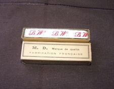 Ancien ruban initiales tissé rouge BW couture, mercerie