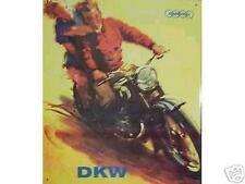 Altes Blechschild Oldtimer Motorrad DKW Auto Union Werbung gebraucht  used