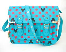NWT Ladies/Girls Mickey Mouse Polka Dot Novelty Satchel/Shoulder Bag Turquoise