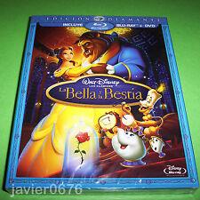 LA BELLA Y LA BESTIA BLU-RAY + DVD CLASICO DISNEY 30 NUEVO PRECINTADO DIAMANTE