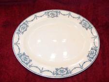 Oval Transferware Platter Blue White Ceton Ware England Antique 13 1/2x11 1/4