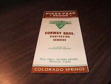 1955 PIKES PEAK, COLORADO CONWAY BROTHERS SIGHTSEEING SERVICE BROCHURE