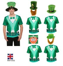 Mens Deluxe LEPRECHAUN FANCY DRESS COSTUME Irish St Patricks Day Adult Outfit UK