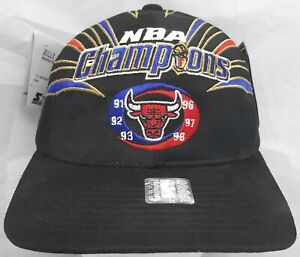 Chicago Bulls NBA Starter vintage 6x Champion adjustable cap/hat