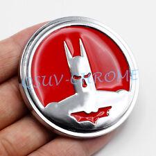 Chrome Roundel Red Coated Metal Mirror BatMan Emblem Badge Car Accessoy Sticker