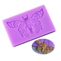 3D Butterfly Shape Silicone Fondant Cake Mold Cookie Candy Clay Mould Christmas
