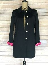 NWOT Coach Womens Black trench coat jacket with pink Coach lining Size Small NEW