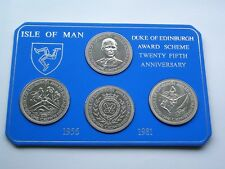 COMPLETE SET OF 4 DUKE OF EDINBURGH AWARDS ISLE OF MAN CROWNS - IoM MANX COINS