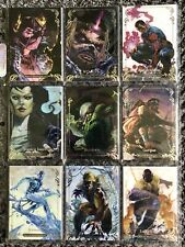 2018 Marvel Masterpieces - Base Card Lot - Tier 1 & Tier 2 (Complete) - 63 Cards