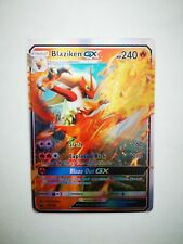 28/168 carte holo prism Pokemon GX HP Anglaise replica FAN CARD BLAZIKEN