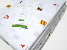 Pottery Barn Multi Colors Flag Organic Cotton King Sheet Set New