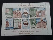 ESPAÑA SPAIN AÑO YEAR 1980 EDIFIL HOJA HB Nº 2583 (o) USADO USED - ESPAMER 80