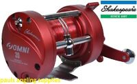 Shakespeare OMNI  Left Hand LH Wind Multiplier Reel For Boat Fishing Red Line