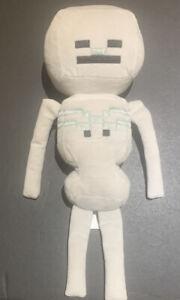 "Minecraft Skeleton Gray Black Plush 14"" Soft Toy Stuffed Animal Jinx Mojang 2014"