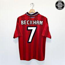 1997/99 BECKHAM #7 England Vintage Umbro Away Football Shirt (M) 98 WC