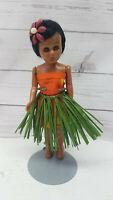 "Vintage Hard Plastic Hawaiian Hula Girl Grass Skirt Hong Kong 8"""