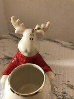 Lenox Hosting The Holidays Christmas Moose Votive Candle Holder