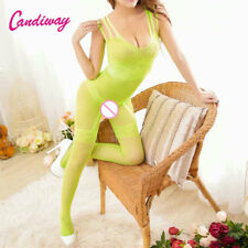 Sex clothes heart green body stocking pantyhose Lingerie Fishnet mesh Tight