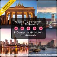 Kurzreise Reisegutschein München Leipzig Hannover 4 Tage 2 Personen 4★ H4 Hotels