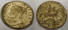 1837 British Old Coin Gold Lustre Unknown Brass Queen Victoria Unusual Strange