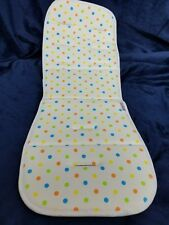 stroller pad baby white multicolor polka dots Coney Island cotton 13 x 32